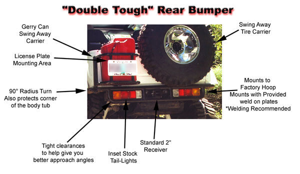 Rear Bumper with mounts